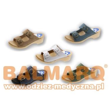 Drewniaki klapki medyczne damskie 03S