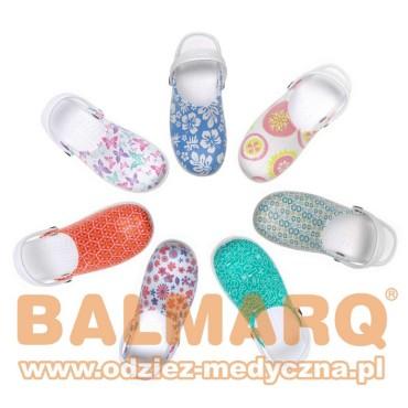 Buty klapki medyczne ODEN z nadrukiem